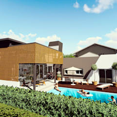 Casa AP: Piletas de jardín de estilo  por Módulo 3 arquitectura