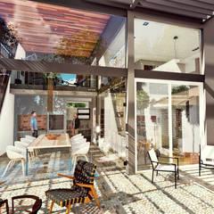 Casa AP: Jardines de invierno de estilo  por Módulo 3 arquitectura,Moderno