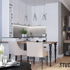 Apartament przy Masarskiej: styl , w kategorii Aneks kuchenny zaprojektowany przez MIKOŁAJSKAstudio ,