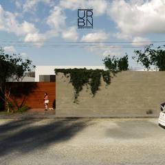 Casas unifamilares de estilo  de URBN ARQ STUDIO, Tropical Hormigón