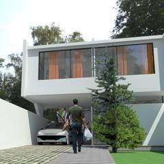 fachada : Casas ecológicas de estilo  por Adrián Rubiales Arquitecto