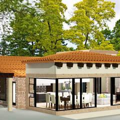 CASA HUICHAPAN: Casas de estilo colonial por CAXÁ studio