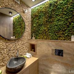 Kamienna umywalka z otoczaka w łazience - umywalki z kamienia: styl , w kategorii Łazienka zaprojektowany przez Lux4home™