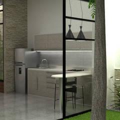 Casa Medianera : Cocinas de estilo  por Elizabeth SJ
