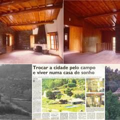 Casa do Monte - Cerdeira - Arganil por Pedro de Almeida Carvalho, Arquitecto, Lda Rústico Pedra
