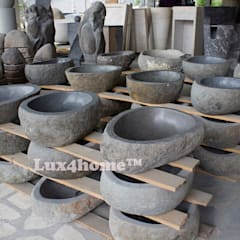 River stone vessel washbasin bathroom - natural stone washbasins:  Wine cellar by Lux4home™ Indonesia