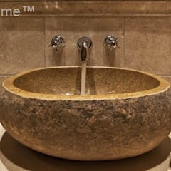 River stone vessel washbasin bathroom - natural stone washbasins:  Bathroom by Lux4home™ Indonesia