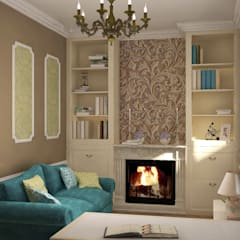 Кабинет в стиле Прованс.: Рабочие кабинеты в . Автор – Дизайн-студия интерьера и ландшафта 'Деметра'