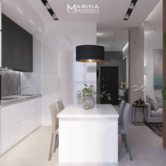 Квартира 92 кв.м: Встроенные кухни в . Автор – Архитектор-дизайнер Марина Мухтарова
