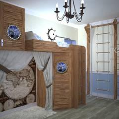 غرفة نوم أولاد تنفيذ Дизайн-студия интерьера и ландшафта 'Деметра',