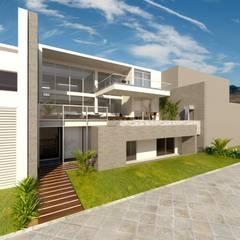 [PROYECTO] Casa T - Lomas del Mar: Casas unifamiliares de estilo  por bvtarquitecto, Moderno