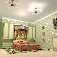 Детская для девочки.: Спальни для девочек в . Автор – Дизайн-студия интерьера и ландшафта 'Деметра'