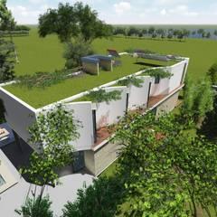 """Casa en """"Rifugio Nel Lago"""": Casas ecológicas de estilo  por Sinapsis Estudio"""