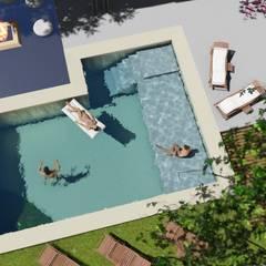 Projekty,  Basen do ogrodu zaprojektowane przez Sinapsis Estudio