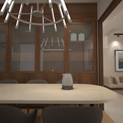 Sodhi Residence: minimalistic Dining room by Rhomboid Designs