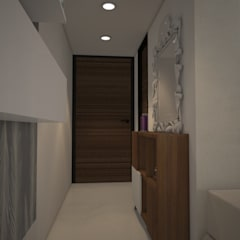 Entrance:  Corridor & hallway by Rhomboid Designs