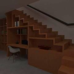 Residência AF: Escadas  por Marcelo Pestana Arquitetura