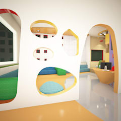 Reception Entrance:  Schools by Rhomboid Designs