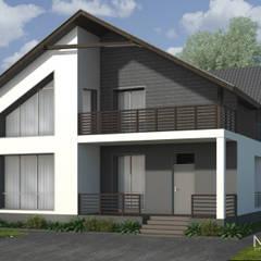 Проект жилого дома S=180 кв.м.: Дома на одну семью в . Автор – Архитектор-дизайнер Марина Мухтарова, Минимализм Кирпичи