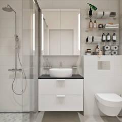 ห้องน้ำ by Студия архитектуры и дизайна Дарьи Ельниковой