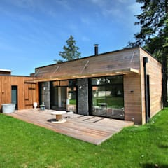 Wooden houses by EC-BOIS, Modern Wood Wood effect