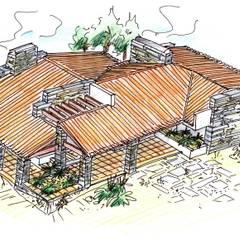 Moradia em São João, Arganil: Casas de campo  por Pedro de Almeida Carvalho, Arquitecto, Lda