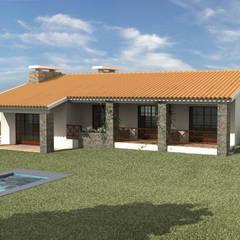 منزل ريفي تنفيذ Pedro de Almeida Carvalho, Arquitecto, Lda, بلدي حجر