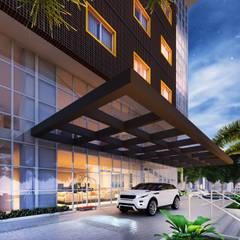 Entrada: Hotéis  por Marcos Assmar Arquitetura | Paisagismo