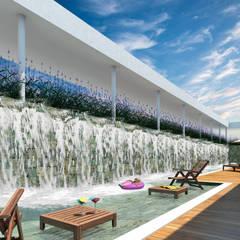 Área de Lazer: Hotéis  por Marcos Assmar Arquitetura | Paisagismo