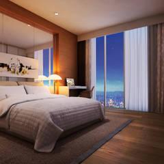 Suíte: Hotéis  por Marcos Assmar Arquitetura | Paisagismo