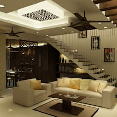 Venkat's Residence,Tirupathi:  Living room by M/s Studio7 Architects