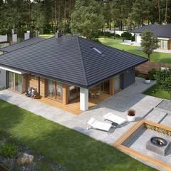 Projekt domu Tanita G2 - nowoczesny dom parterowy dla rodziny 2+2 od Pracownia Projektowa ARCHIPELAG Nowoczesny