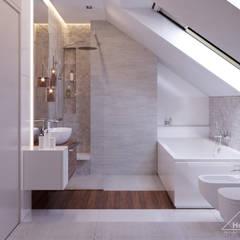Projekt domu HomeKONCEPT 48: styl , w kategorii Łazienka zaprojektowany przez HomeKONCEPT   Projekty Domów Nowoczesnych
