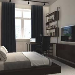 Dormitorios de estilo  por Anastasia Yakovleva design studio