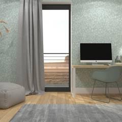 Projekt pokoju Kasi 25m2 | Ursynów: styl , w kategorii Pokój dla dziwczynki zaprojektowany przez DESIGN MY DEER