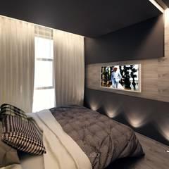 Уютный лофт: Спальни в . Автор – GraniStudio