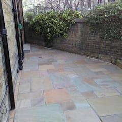 Garden patio:  Front garden by Colinton Gardening Services - garden landscaping for Edinburgh