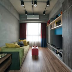 Living room by 澄月室內設計