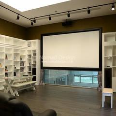 부산 서재 인테리어/가구디자인 - 노마드디자인: 노마드디자인 / Nomad design의  서재 & 사무실