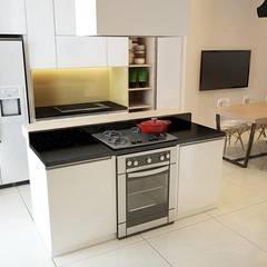 Cocinas equipadas de estilo  por Công ty TNHH TK XD Song Phát, Asiático Cobre/Bronce/Latón