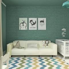 Детская мальчика: Спальни для мальчиков в . Автор – Гузалия Шамсутдинова   KUB STUDIO