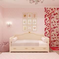 Habitaciones de niñas de estilo  de Гузалия Шамсутдинова   KUB STUDIO