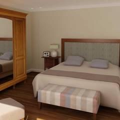 RENDERS INTERIORES DE VIVIENDA EN ACASUSSO: Dormitorios de estilo clásico por Javier Figueroa 3D