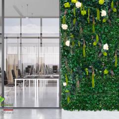VETRATA E GIARDINO VERTICALE: Centri congressi in stile  di Green Habitat s.r.l.