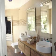 Reforma baño contemporáneo: Baños de estilo  de Almudena Madrid Interiorismo, diseño y decoración de interiores, Moderno Cerámico