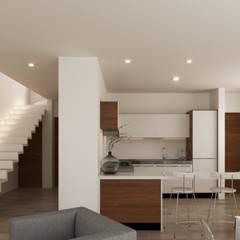 Built-in kitchens by Laboratorio Mexicano de Arquitectura, Minimalist Concrete