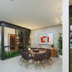 Casa CA: Comedores de estilo  por Heftye Arquitectura