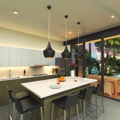 Cocina : Cocinas de estilo  por Heftye Arquitectura