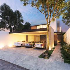 Casa CA: Garajes abiertos de estilo  por Heftye Arquitectura, Moderno Metal