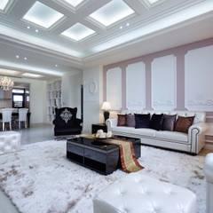 勾勒豪宅氣度,開啟一眼望不盡的優雅奢華:  飯店 by 雅和室內設計, 古典風